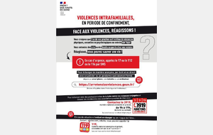 Violences intrafamilales, luttons - 03/04/2020